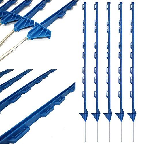 True Products b1012j-50Stangen Kunststoff Poly Elektrische Zaun Pfosten Pferd Pferdekoppel, blau, von - Pferd Zaun Elektrischer