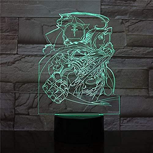 FSKJXYD Nachtlichter Minnie Mickey Mouse 3D Led Nachtlicht 7 Farben Usb Hologramm Licht Baby Sleeping Decor Freund Spielzeug Geschenke