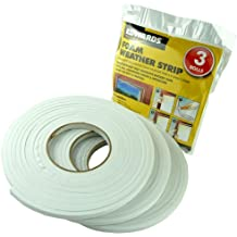3 ROLLS DRAUGHT EXCLUDER FOAM - WATERPROOF SELF ADHESIVE BACKED TAPE - IDEAL FOR DOOR AND WINDOWS