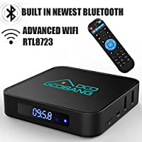 Android TV Box 2GB RAM 16GB ROM, 2017 Model GooBang Doo X2 Smart tv box AmlogicS905X 64 Bits Quad Core, HDMI 2.0 output Support 4K*2K@ 60HZ Full HD,H.265,WIFI 2.4Ghz,Bluetooth 4.0