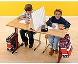 Sichtschutz - Trennwand Schreibtischaufsatz Mobile Stellwand Blickdichte Trennwände Lehrerbedarf Blickdicht Mobil Stellwände Tisch Schüler Schule Klassenarbeit Klausur