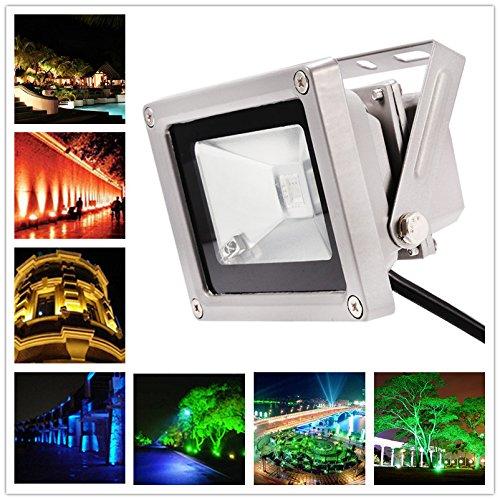 elegantstunning 16 Farbtöne RGB LED Flutlicht, für die Beleuchtung und Verschönerung von Home Hotel Gartenlandschaft (Landschaft Beleuchtung Flutlicht)