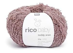 Pelote de Laine Marron - Rico baby Teddy Aran
