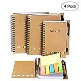 NUOLUX Quaderni spirale Quaderno con rilegatura a spirale semplice Spiral Notebook in carta,4 Pezzi