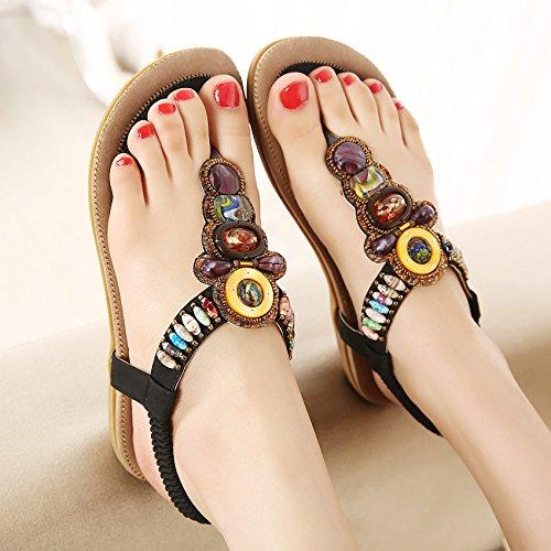 puro Thirty i largo tallone basso con basso tacco pizzico colore scarpe e sandali nero scarpe sandali le six GTVERNH 40 UWwOCRdqq