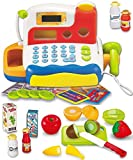 FUNERICA Durable Cash Register Toy for Kids | With Electronic Sounds, Microphone, Scanner