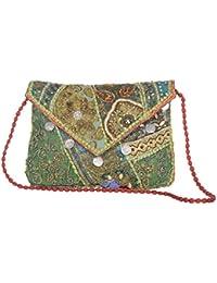 Jewel Fab Art Vintage Banjara Multicolour Ethnic Handmade Beaded Patchwork Women Antique Shoulder Bag
