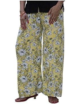 Indian Handicrfats Export DiscountZila Flared Women's Yellow, White Trousers