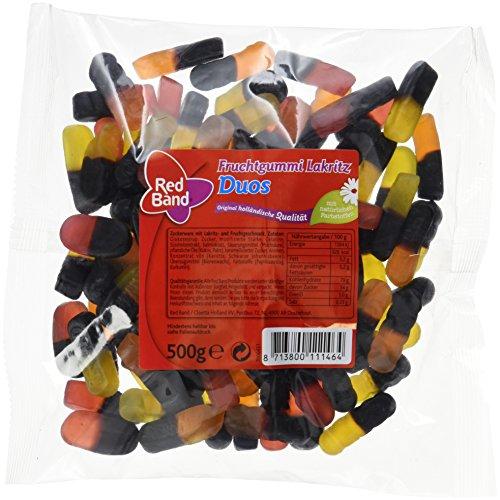 Red Band Fruchtgummi Lakritz Duos, 12er Pack (12 x 500 g Beutel)