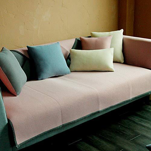TSSCY Moderne Atmungsaktive Sofabezug 1 Stück, Universelle Sofa Abdeckung Für Sektionaltore Couch Couch-abdeckungen Waschbar Sofa Überwurf Für Kinder Haustiere-rosa 80x120cm/31.5x47inch