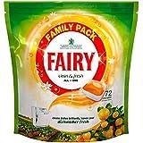Fée Clean & Fresh Lave-vaisselle comprimés Citrus Grove (72) - Paquet de 6