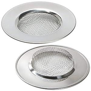 LBTrading Coladores de Desagüe Filtro de Acero Inoxidable para Fregadero Lavabo bañera 7.7 cm Set of 2