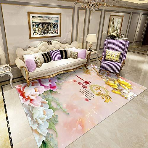 Chinesische Teppich (DTY-WXH Wohnzimmer-Teppich-chinesischer Teppich-Studien-Gobelin-Nachtteppich,A,140 * 200CM)
