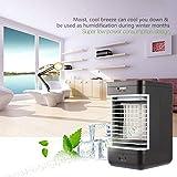 Dailyinshop Enfriador Evaporativo de enfriamiento por Aire Enfriador portátil Interior con Ventilador silencioso de 2 velocidades
