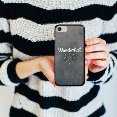Apple iPhone 6s Silikon Hülle Case Schutzhülle Kompass Reise reiselust Hard Case schwarz