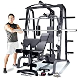 Marcy SM4000 Deluxe Smith Machine Home Gym with 7ft 650kg Rated Olympic Bar