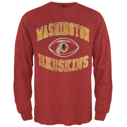 Old Glory Washington Redskins–Logo Scrum Premium Lange Ärmel Gr. Small, Rot Washington Nationals Helm