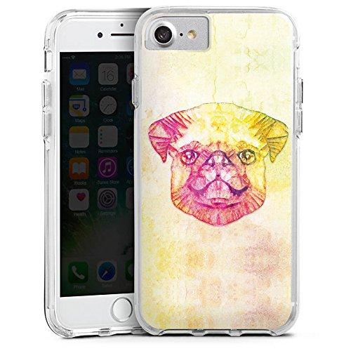 Apple iPhone 6s Plus Bumper Hülle Bumper Case Glitzer Hülle Mops Chien Dog Bumper Case transparent