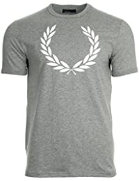 Fred Perry Laurel Wreath Ringer Tee shirt Steel M, T-Shirt