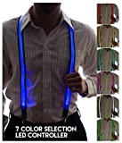 NEON NIGHTLIFE Uomo Light Up LED Bretelle, 7 Selezione colore Led Taglia unica