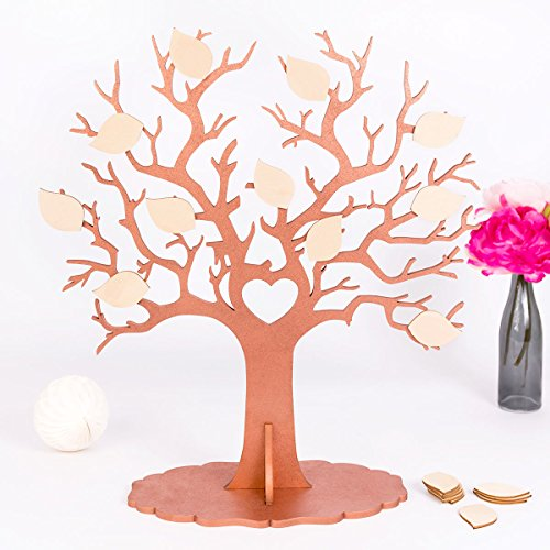 Kleinlaut Gästebuch für z.B. Hochzeiten – Wedding Tree – außergewöhnliche Alternative aus Holz zum traditionellen Gästebuch für z.B. Hochzeiten – Wählen Sie Ihre Wunschfarben – Kupfer