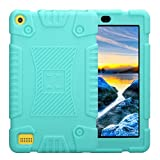 Culater® Universal Protective Case Soft Silicone Rugged Back Case for Amazon Kindle Fire 7 2017/2016/2015 (Sky Blue)