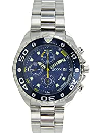 gooix Reloj de hombre reloj de pulsera Chrono Acero Inoxidable Analog gx01102505