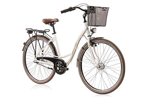 tretwerk DIREKT gute Räder Stadio 28 Zoll Damen Citybike, Damen-Fahrrad 3-Gang Nabenschaltung und Rücktritt