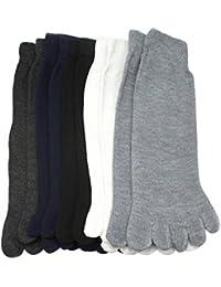 5 pairs chaussettes bas socquettes 5 orteils doigts en coton mixte confortable