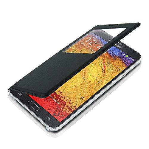 kwmobile Funda potectora práctica y chic con tapicería de cuero sintético FLIP COVER para Samsung Galaxy Note 3 Neo 3G / LTE+ en