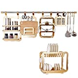 Kitchen shelf. CGN Wand Lagerung Regale, Mode High End Sparen Platz Würze Lagerregal Deckel Lagerregal Fach Lagerregal Küche Regal Gold Farbe Multifunktionsgröße: 120 cm (Größe : #1)