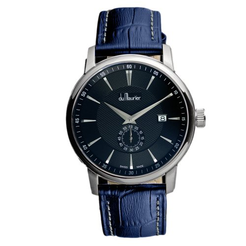 du-maurier-maxim-mens-quartz-watch-with-black-dial-analogue-display-and-blue-leather-strap-mxbblu