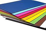 perfect ideaz 100 Blatt buntes DIN-A4 Ton-Papier, Ton-Zeichen-Papier bunt, Set aus 10 Farben, bunte Blätter in 130g/m², Bastel-Bogen farbig, Zubehör zum Basteln, Material durchgefärbt, DIY-Bedarf Vergleich