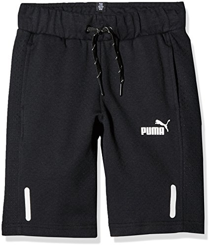 Puma Kinder Sports Style Sweat Shorts, Cotton Black, 128 Preisvergleich