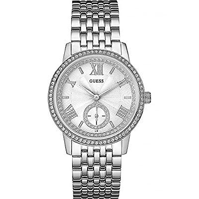 Guess W0573L1 - Reloj con correa de metal, para mujer, color plateado