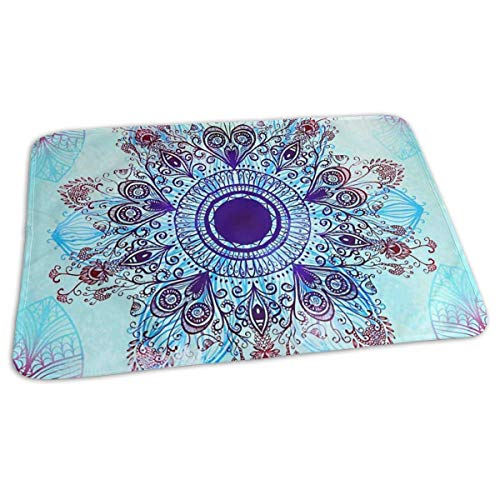 Kotdeqay Premium Wickelauflagen für Babywindelfor Infant Hippie Purple Mandala Portable Incontinence Pads Play Mat Great for Travel/Stroller/Bed/Car