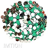 IMTION 200 Pcs Craft Decoration Mirror Round Shape Glass Mirror for Arts & Crafts Project Making, Decoration Stone for Embroidery Work