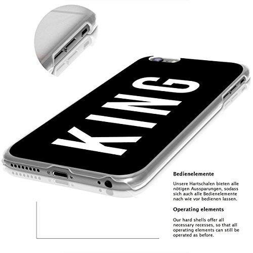 finoo | iPhone 8 Handy-Tasche Schutzhülle | ultra leichte transparente Handyhülle in harter Ausführung | kratzfeste stylische Hard Schale mit Motiv Cover Case | Watercolor heart butterflies King