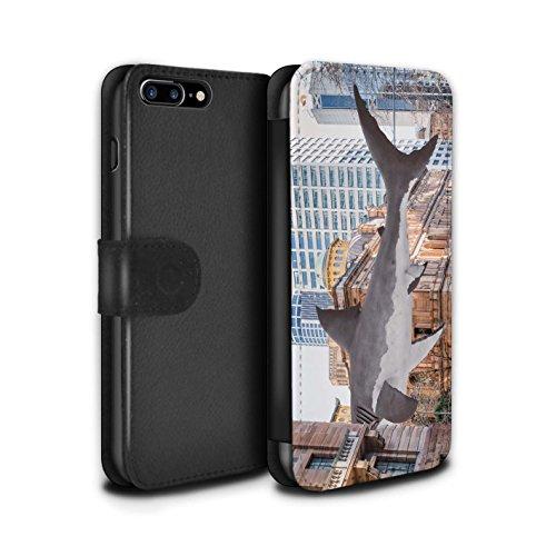 Stuff4 Coque/Etui/Housse Cuir PU Case/Cover pour Apple iPhone 8 Plus / Barbecue/BBQ Design / Vers Bas Sous Collection Attaque de Requin
