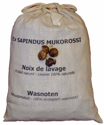 1 kg Waschnüsse aus Pakistan im Baumwollbeutel mit Portionsbeuteln für die Waschtrommel(2018)
