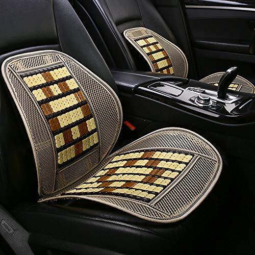 Cwwhy coprisedile in bamboo per auto sedile comfort in massetto - supporto lombare - coprisedile in bamboo chip traspirante in mesh adatto per l'estate,beige