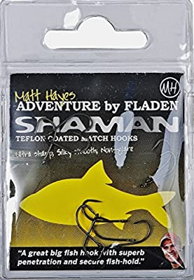 Matt Hayes SHAMAN Quality Teflon Coated Barbless MATCH Eyed Fishing Hooks (size 10, 12, 14, 16, 18 & 20) - Ultra Sharp, Silky Smooth & Non Glare by FLADEN