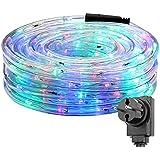 LE Tira de luces 10m 240 LED, Resistente al agua IP44, Multicolor (Luz fija), Cadena de luces, Jardín, terraza, patio, Manguera de luces de Navidad