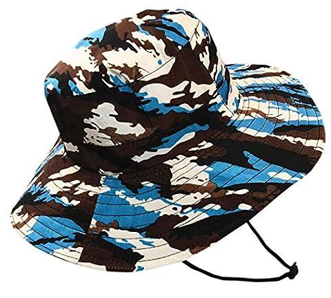 XueXian(TM) Homme Chapeau Bob Sport Hat Couleur Camouflage en Polyester