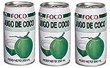 Foco - Néctar de coco - Paquete de 3-3x350ml Lata - Desde Tailandia