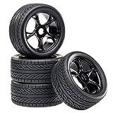 Buggy Reifen Felgenset Street mit 5-Doppelspeichenfelge schwarz 1:8 partCore 320021