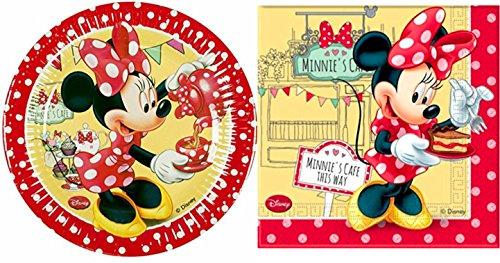 irr 28-teilig Servietten und Pappteller Minnie Mouse Geburtstag Partydekoration (Minnie Mouse-pappteller)