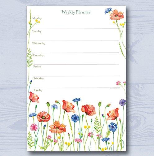 Padblocks Weekly Planner Notepad - Wildflower Meadow (min. 52 pages)