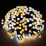 Guirlande Lumineuses 3M, Imperméable à 400 Lumière Globe à LED avec 8 modes Intérieur Extérieur Décorative Eclairage pour Noël, Jardin, Mariage, Fête (blanc chaud, Prise EU)