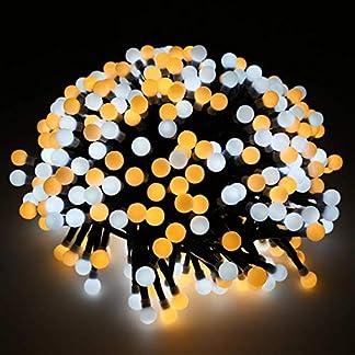 Cadena de Luces, Impermeable 400 LED Guirnalda de Luces Hada Luz 8 Modos de Luz Interiores e Exteriores Decoración para Navidad, Fiestas, Festivales, Jardines, Casas(Blanco Cálido)